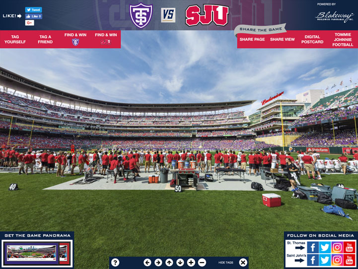 St. Thomas vs. Saint John's 360° Gigapixel Fan Photo