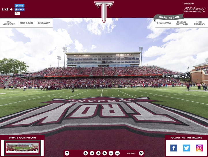 Troy Trojans 360° Gigapixel Fan Photo
