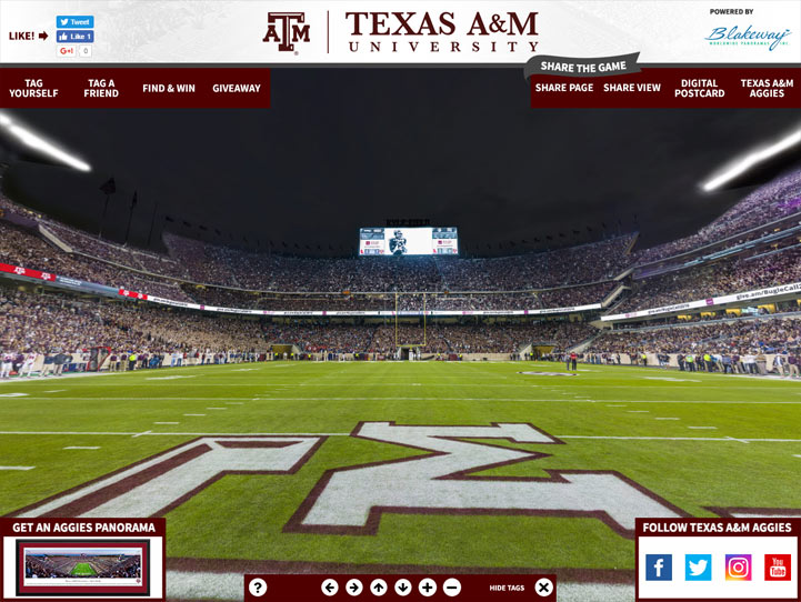 Texas A&M Aggies 360° Gigapixel Fan Photo