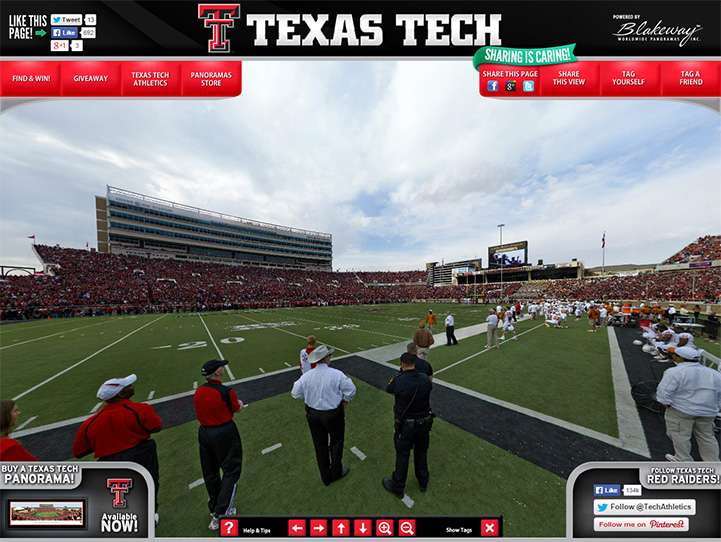 Texas Tech Red Raiders 360° Gigapixel Fan Photo