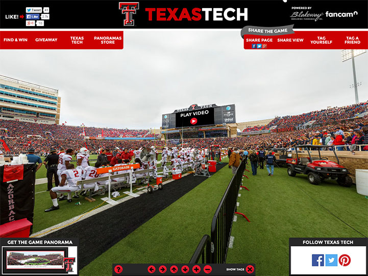 Texas Tech Red Raiders 360° Gigapixel Fan Photo