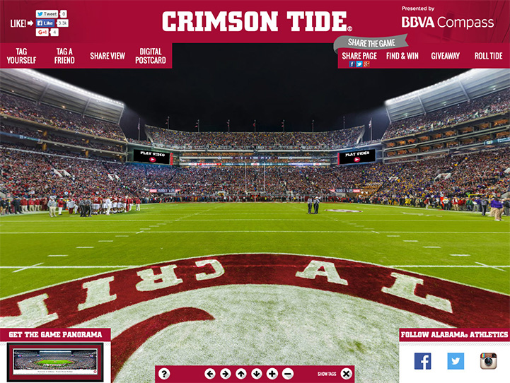 Alabama Crimson Tide 360° Gigapixel Fan Photo