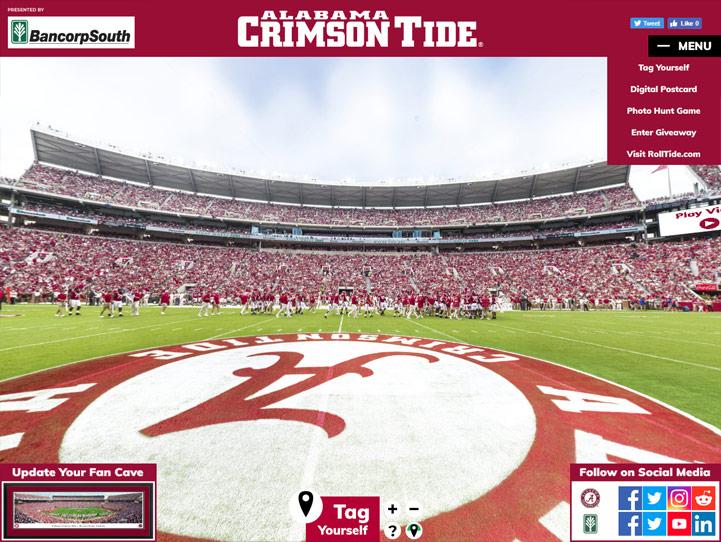 Alabama Crimson Tide Football 360 Gigapixel Fan Photo