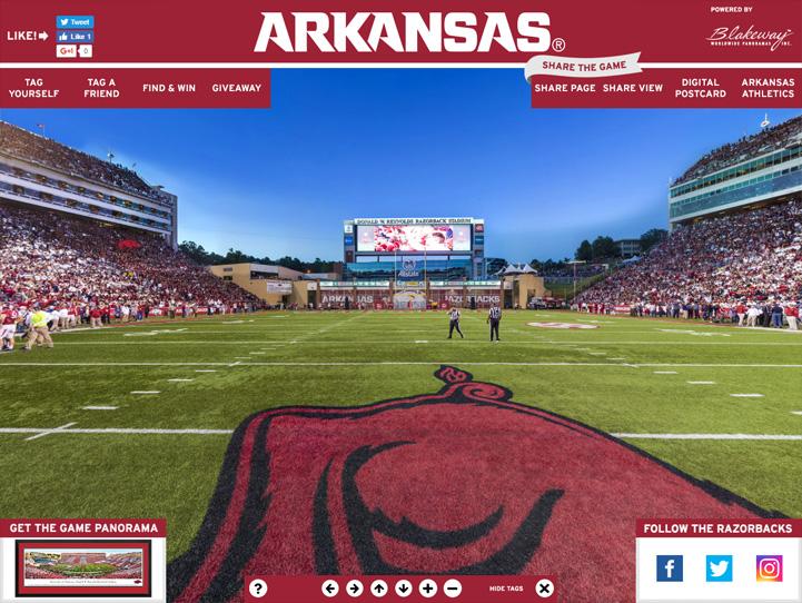 Arkansas Razorbacks 360° Gigapixel Fan Photo