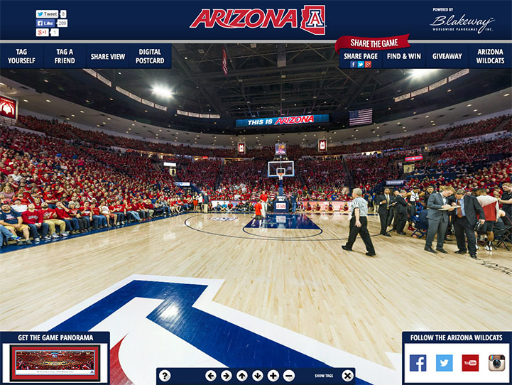 Arizona Wildcats 360° Gigapixel Fan Photo