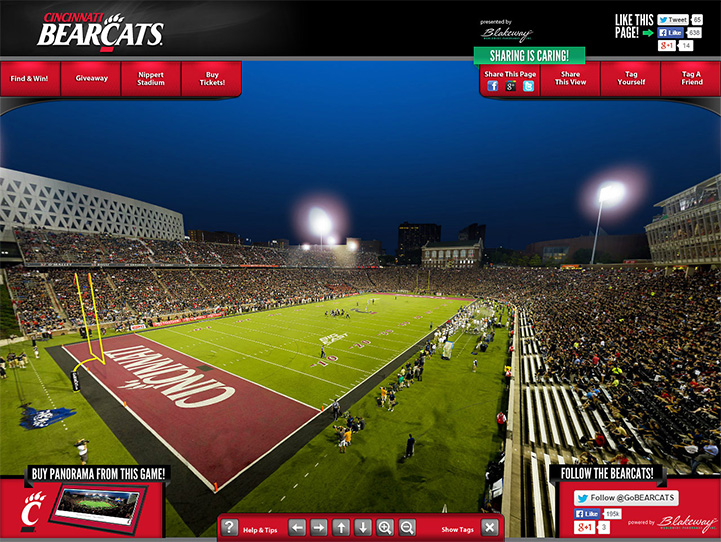Cincinnati Bearcats 360° Gigapixel Fan Photo