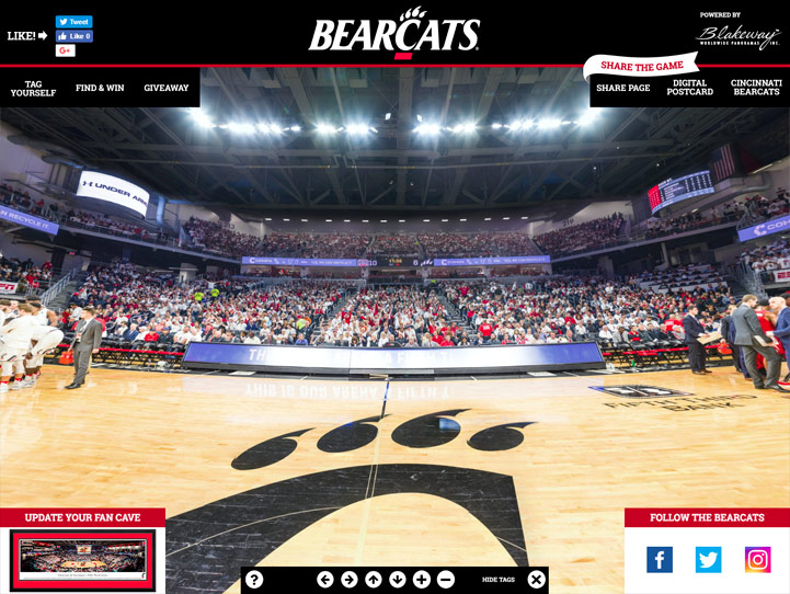 Cincinnati Bearcats 360 Gigapixel Fan Photo