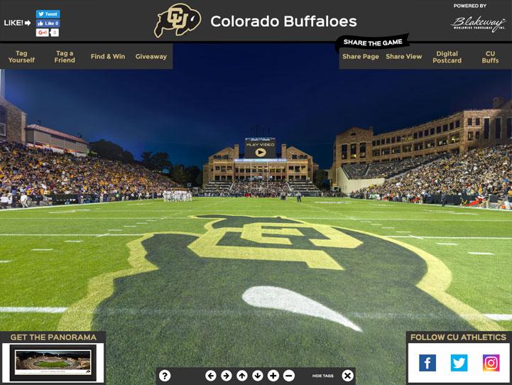Colorado Buffaloes 360° Gigapixel Fan Photo