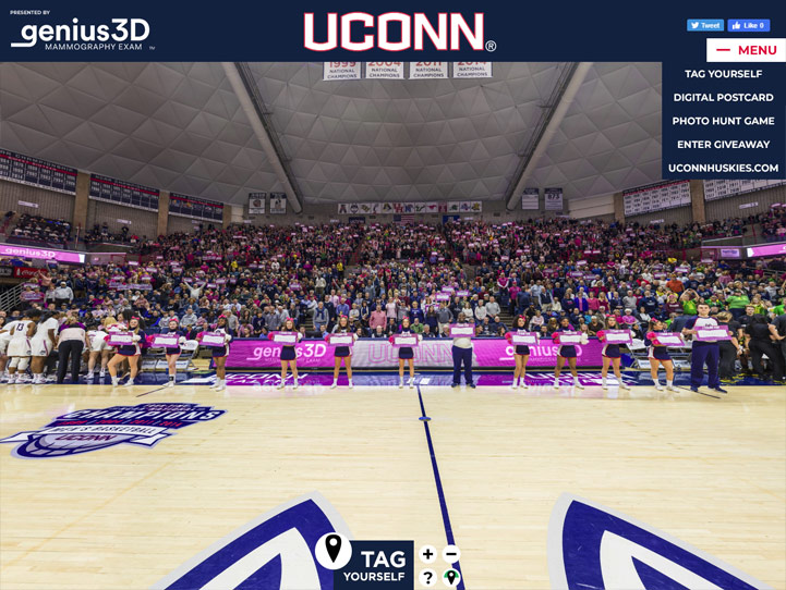UConn Huskies 360° Gigapixel Fan Photo