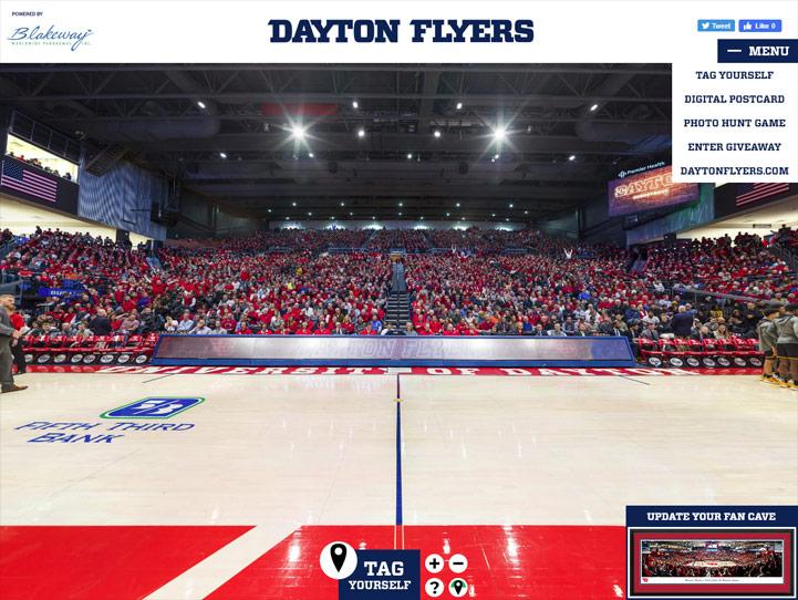 Dayton Flyers 360° Gigapixel Fan Photo