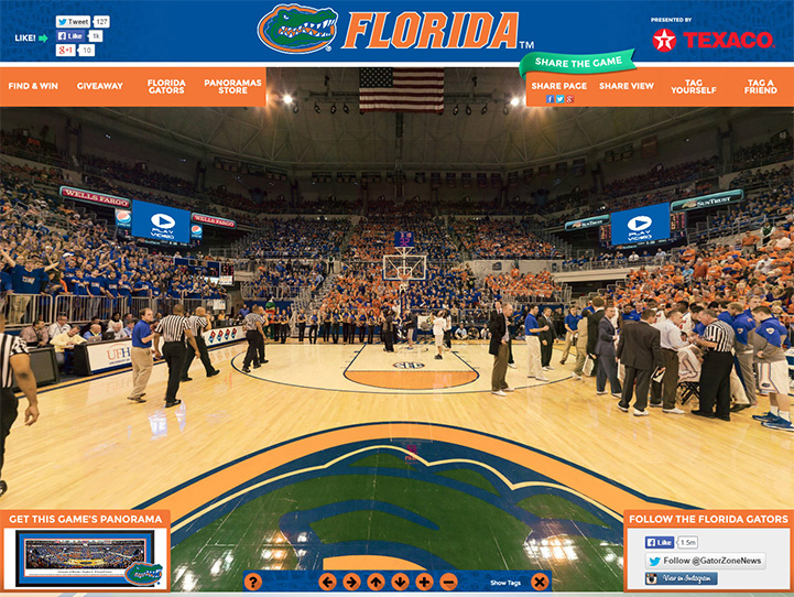 Florida Gators 360° Gigapixel Fan Photo