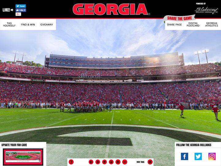 Georgia Bulldogs 360° Gigapixel Fan Photo