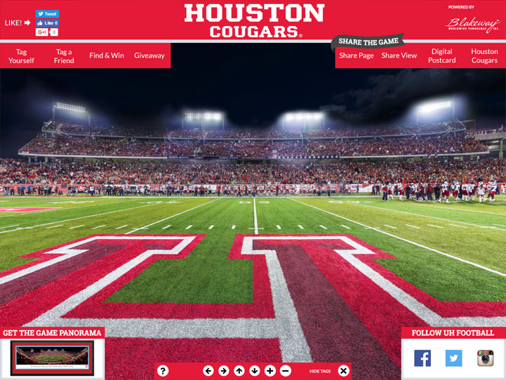 Houston Cougars 360° Gigapixel Fan Photo