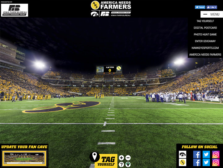 Iowa Hawkeyes Football 360 Gigapixel Fan Photo