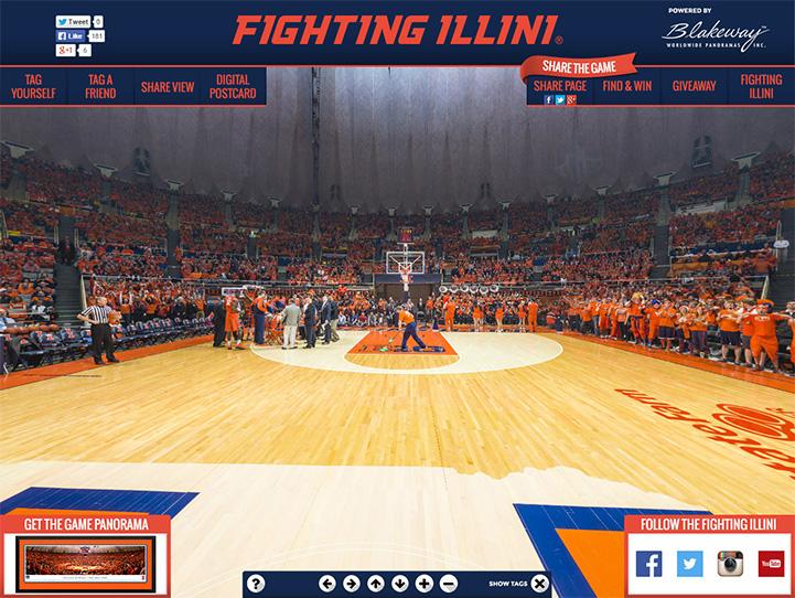 Illinois Fighting Illini 360° Gigapixel Fan Photo
