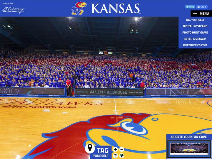 Kansas Jayhawks 360 Gigapixel Fan Photo