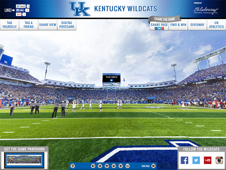 Kentucky Wildcats 360° Gigapixel Fan Photo