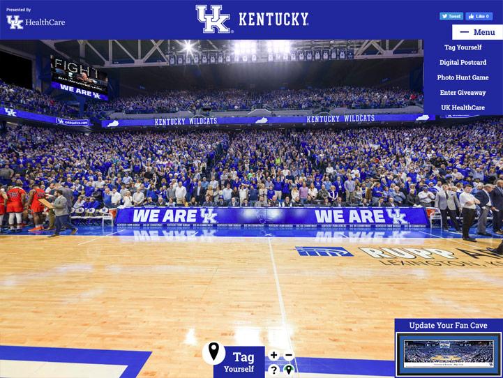Kentucky Wildcats 360 Gigapixel Fan Photo