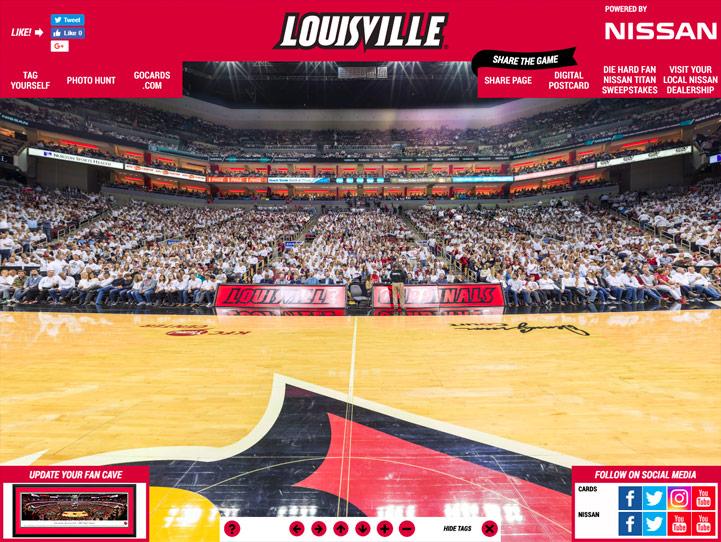 Louisville Cardinals 360° Gigapixel Fan Photo