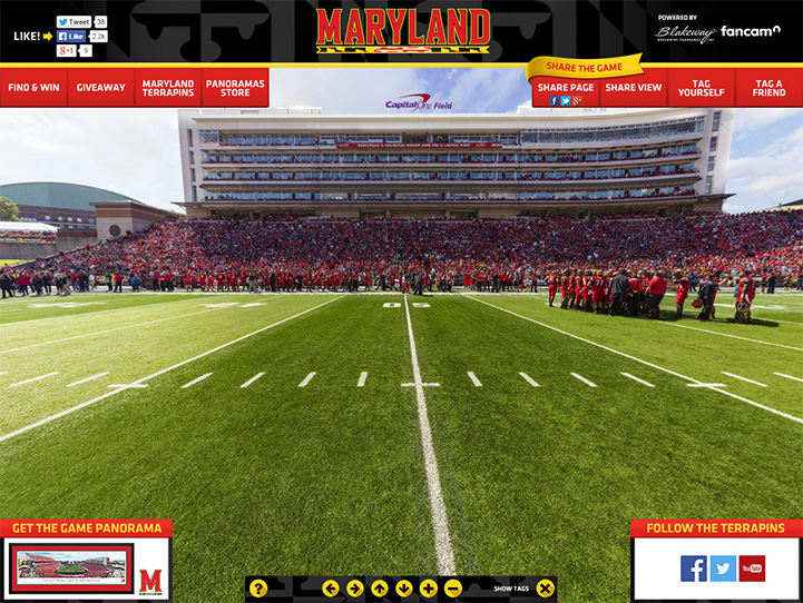 Maryland Terrapins 360° Gigapixel Fan Photo