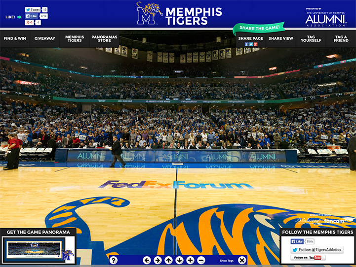 Memphis Tigers 360° Gigapixel Fan Photo