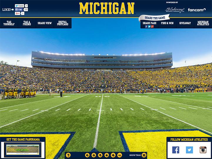 Michigan Wolverines 360° Gigapixel Fan Photo