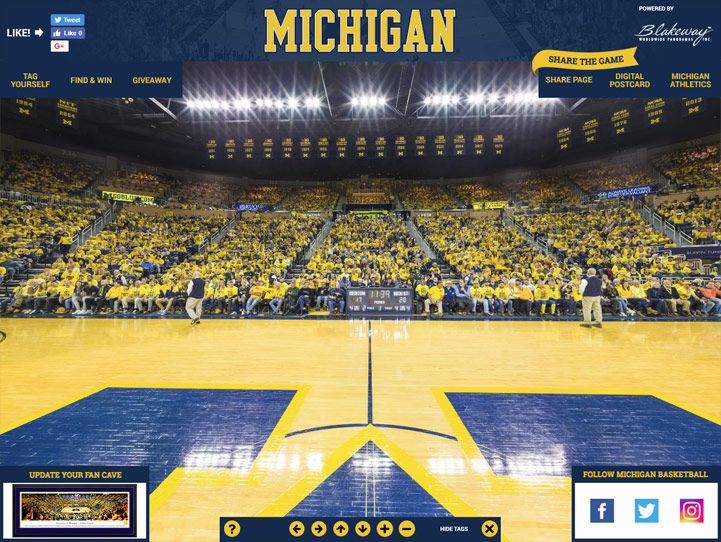 Michigan Wolverines 360 Gigapixel Fan Photo