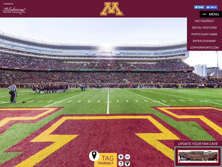 Minnesota Golden Gophers Football 360 Gigapixel Fan Photo