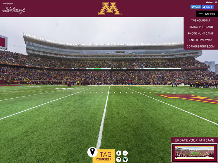 Minnesota Golden Gophers 360° Gigapixel Fan Photo