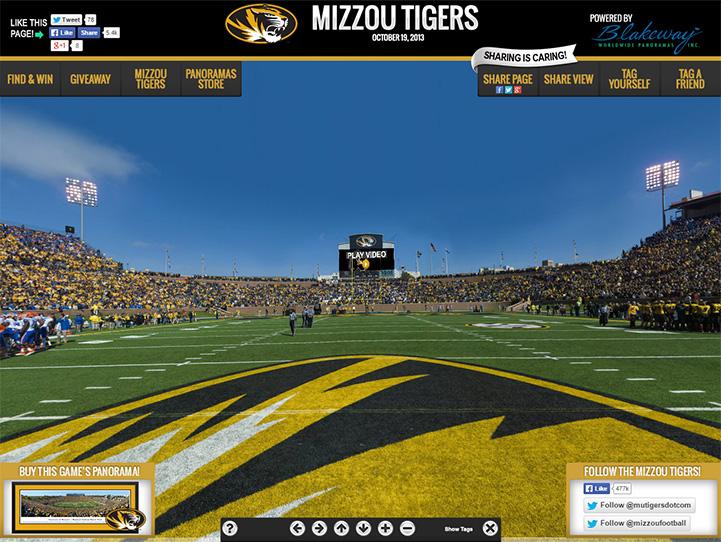 Missouri Tigers 360° Gigapixel Fan Photo
