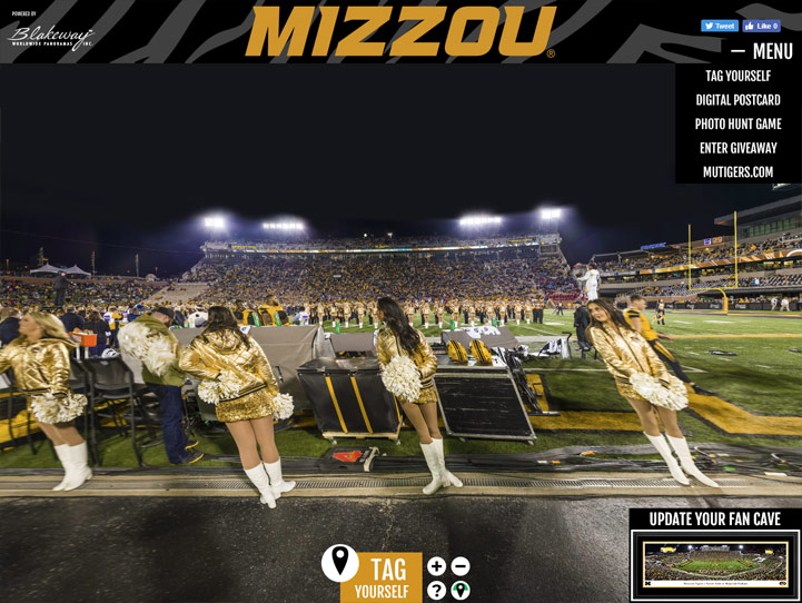 Missouri Tigers Football 360 Gigapixel Fan Photo