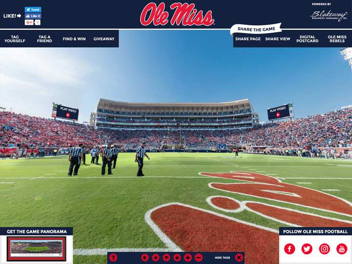 Ole Miss Rebels 360° Gigapixel Fan Photo