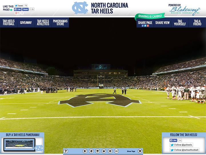 North Carolina Tar Heels 360° Gigapixel Fan Photo