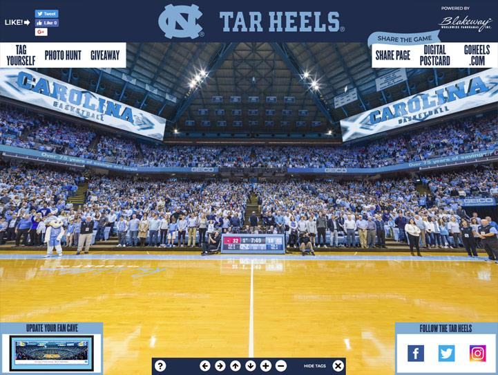 North Carolina Tar Heels 360 Gigapixel Fan Photo