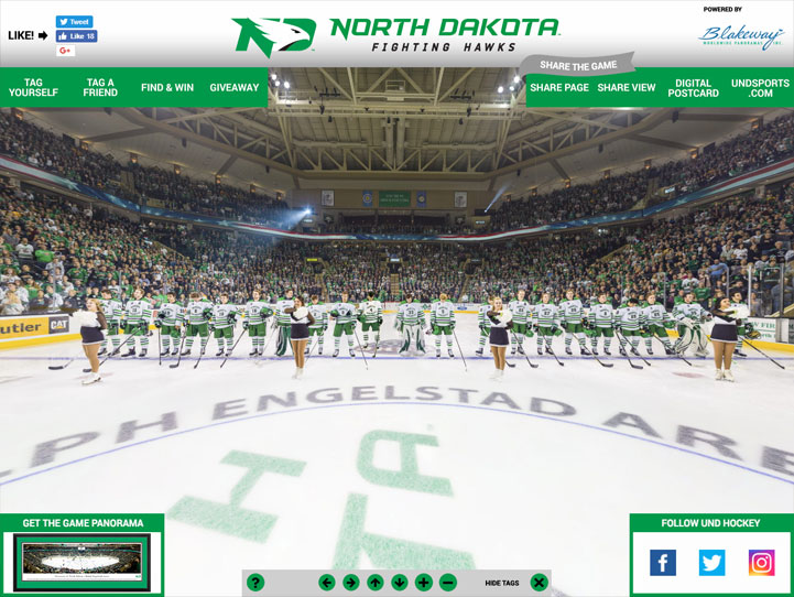 North Dakota Fighting Hawks 360° Gigapixel Fan Photo