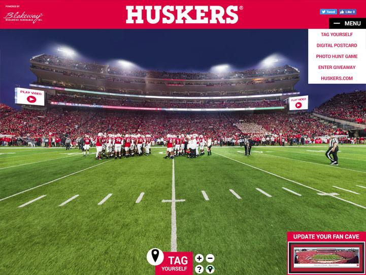 Nebraska Huskers 360° Gigapixel Fan Photo