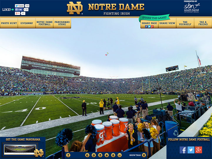 Notre Dame Fighting Irish 360° Gigapixel Fan Photo