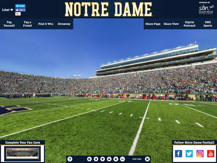Notre Dame Fighting Irish 360 Gigapixel Fan Photo