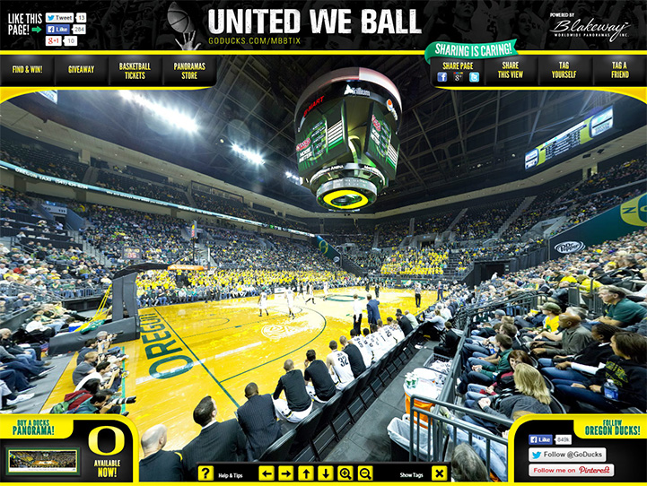 Oregon Ducks 360° Gigapixel Fan Photo