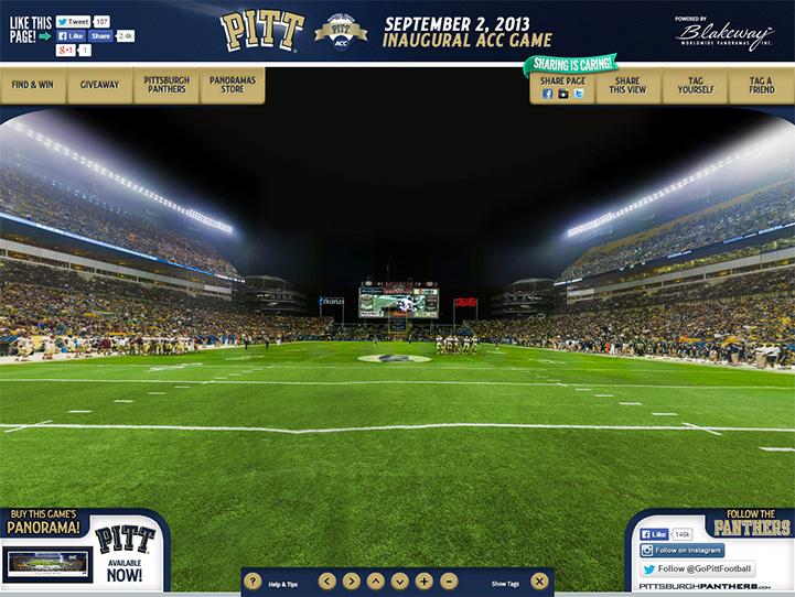 Pitt Panthers 360° Gigapixel Fan Photo