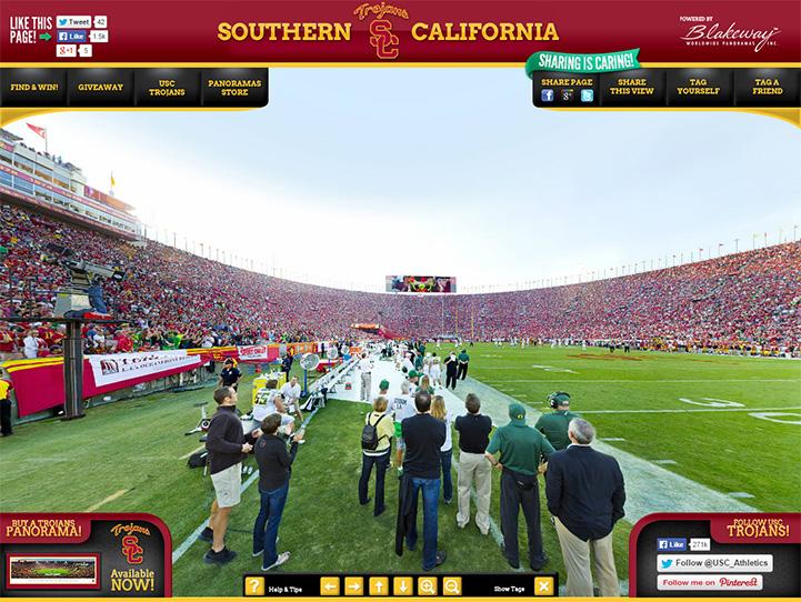 USC Trojans 360° Gigapixel Fan Photo