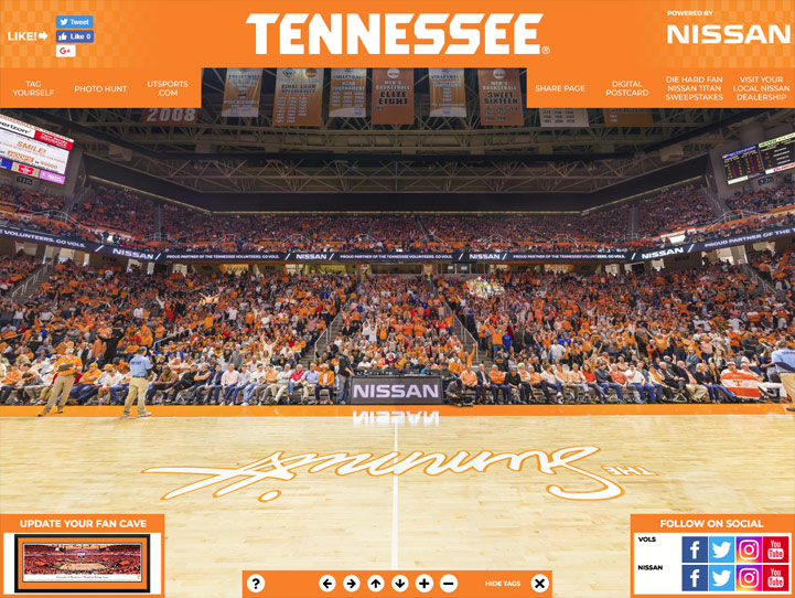 Tennessee Volunteers 360° Gigapixel Fan Photo