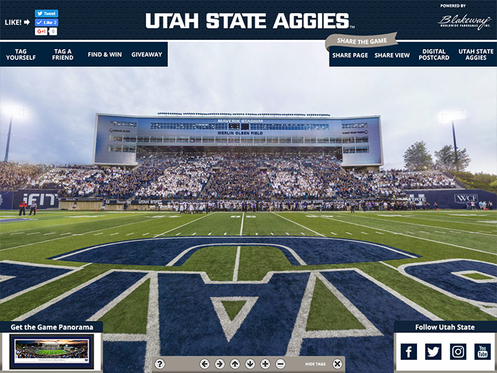 Utah State Aggies 360° Gigapixel Fan Photo