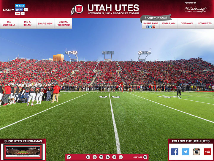 Utah Utes 360° Gigapixel Fan Photo