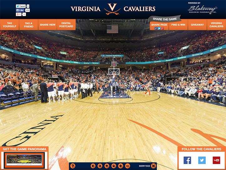 Virginia Cavaliers 360° Gigapixel Fan Photo
