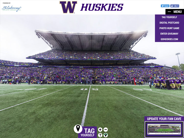Washington Huskies 360° Gigapixel Fan Photo