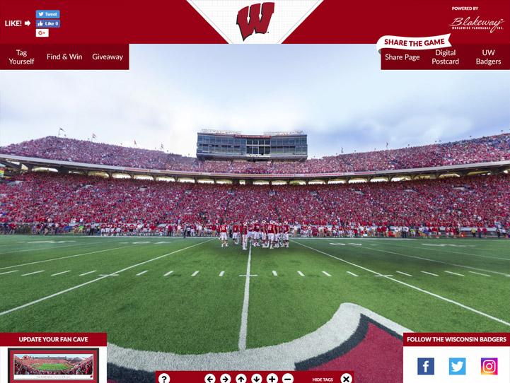 Wisconsin Badgers 360° Gigapixel Fan Photo