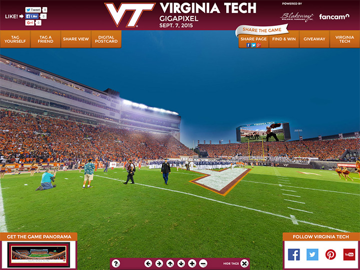 Virginia Tech Hokies 360° Gigapixel Fan Photo
