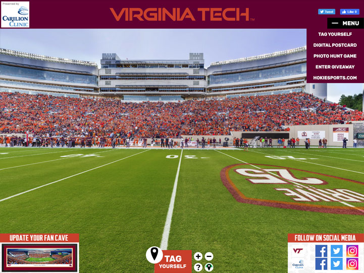 Virginia Tech Hokies 360° Gigapixel Fan Photo