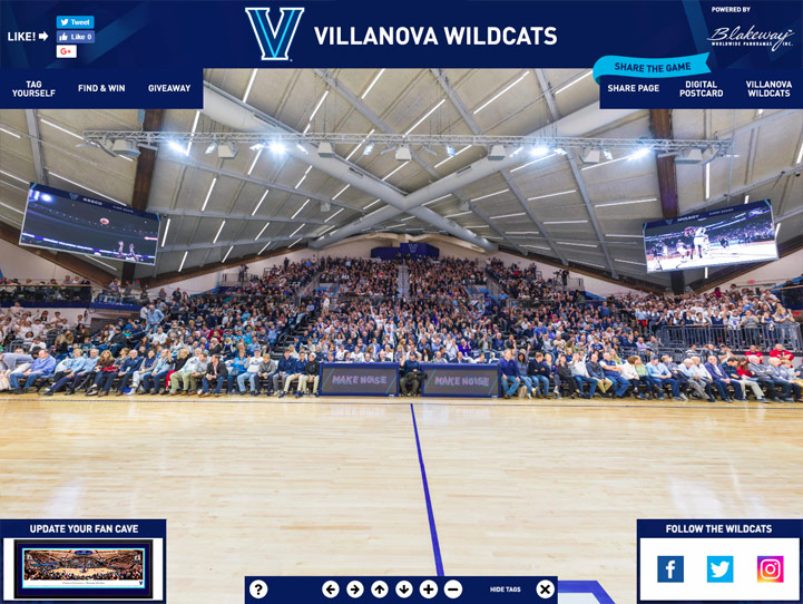 Villanova Wildcats 360° Gigapixel Fan Photo